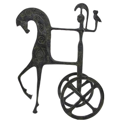 Chariot of Goddess Athena Holding an Owl