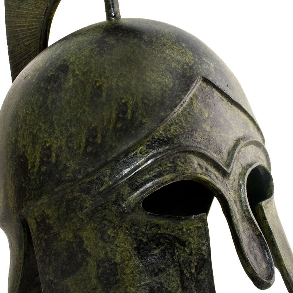 Greek Ancient Helmet Natural Size - tall crest