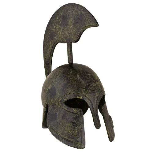 Greek Ancient Helmet depicting a Griffin - tall crest