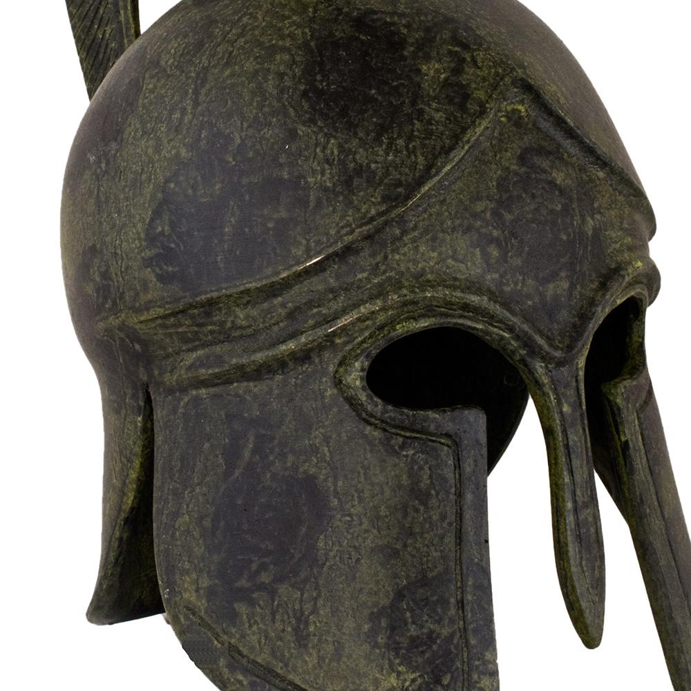 Greek Art Plain Helmet - tall crest