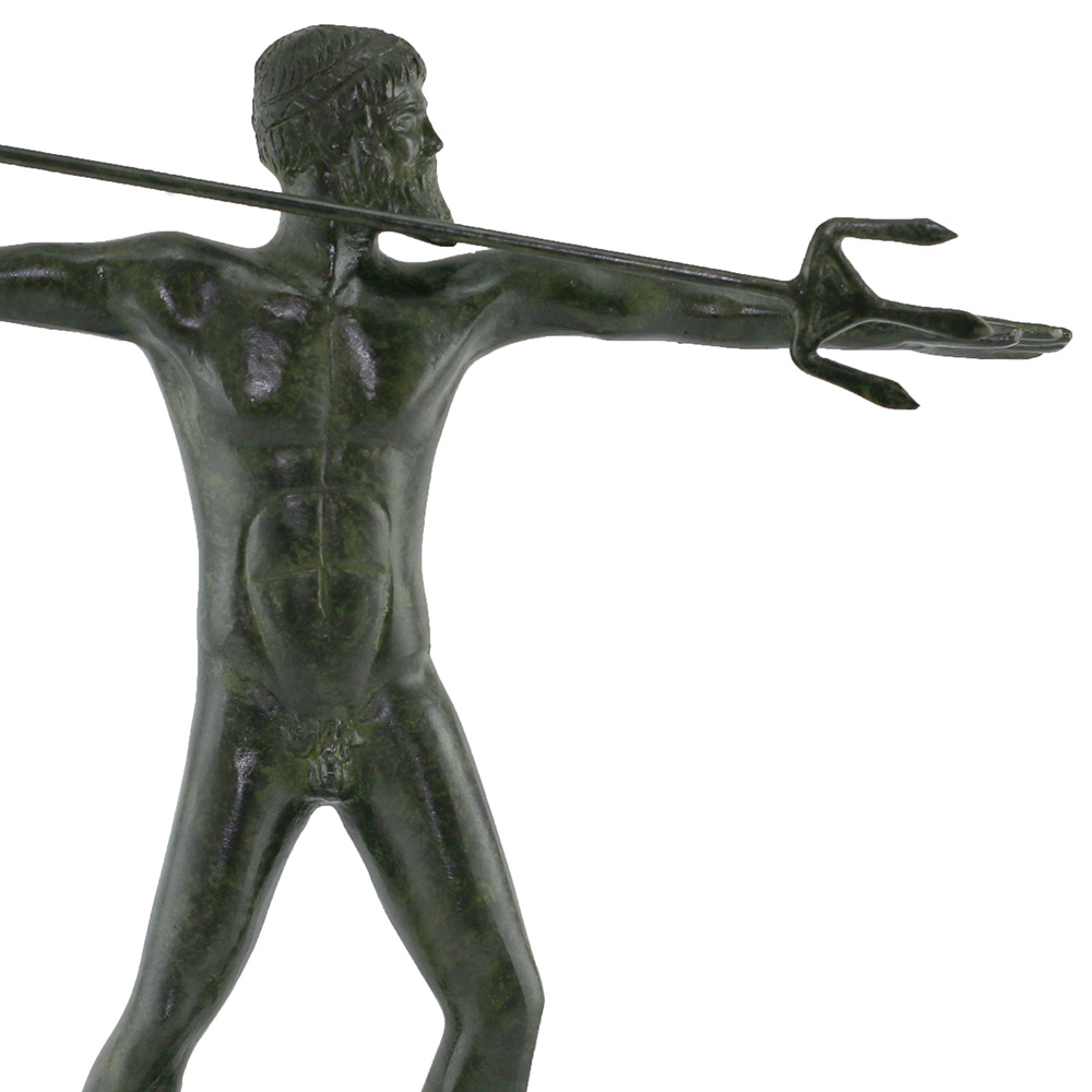 Solid Poseidon with his Trident