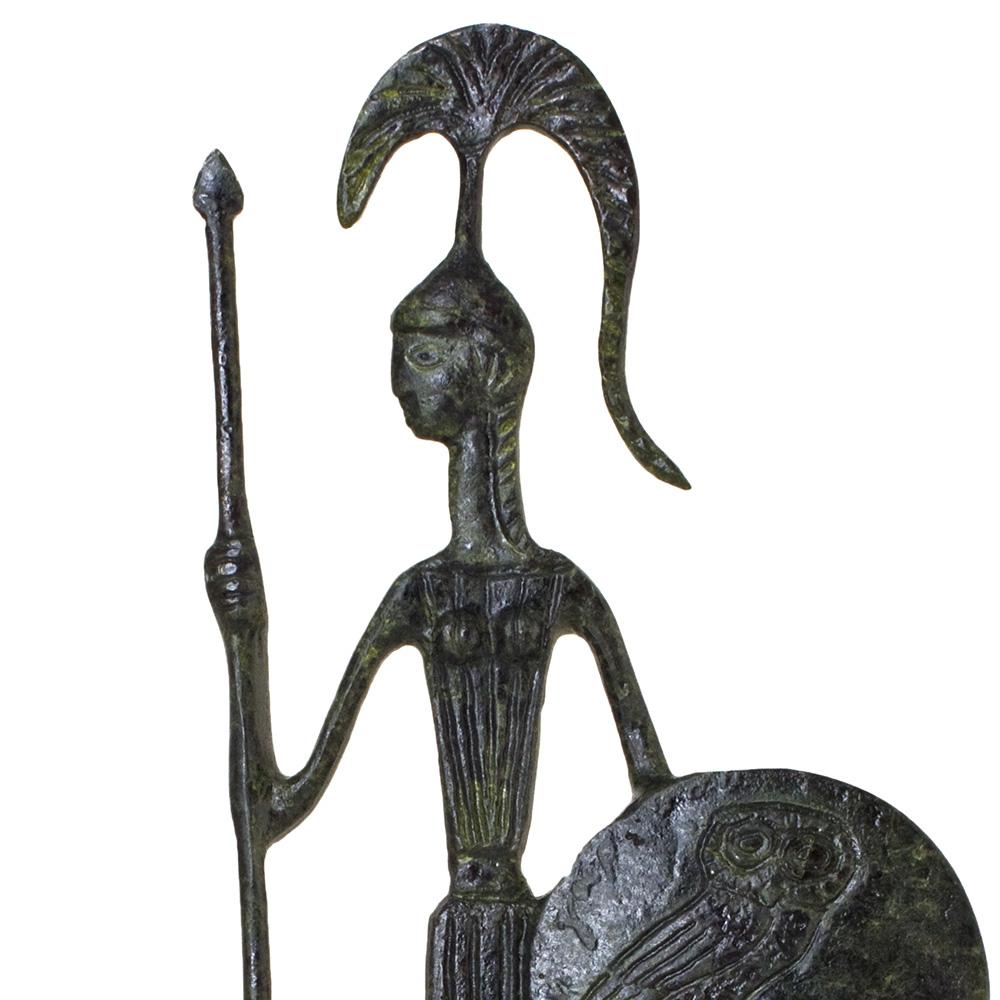 Athena, Greek Goddess of Wisdom, Holding her Shield and Spear