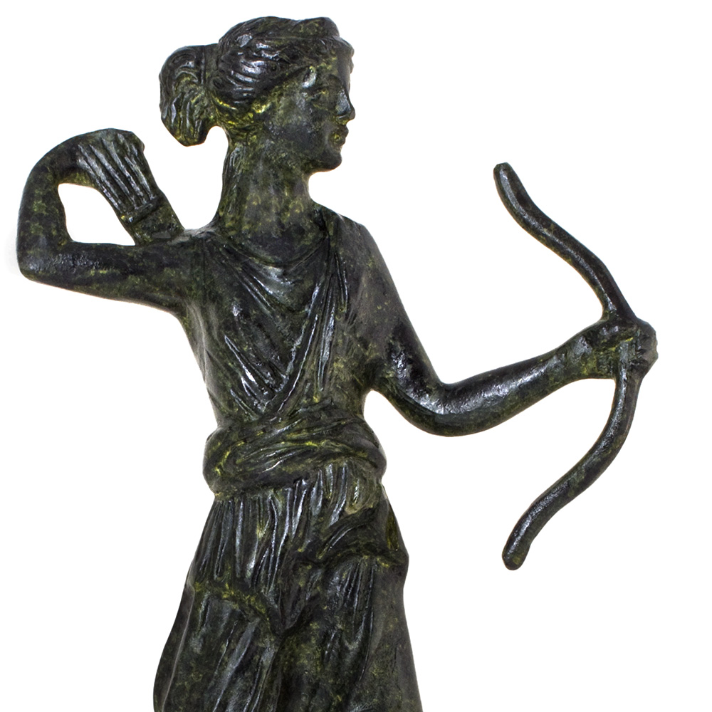 Artemis, Greek Goddess with her Bow and Arrow