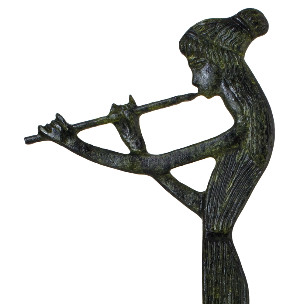 Ancient Greek Woman Playing the Flute
