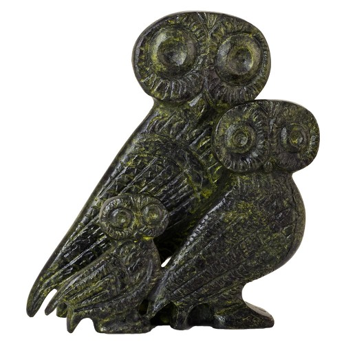 Bronze Complex of Three Owls