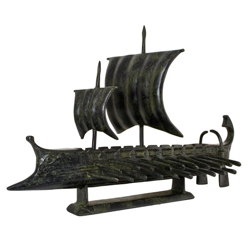 Ancient Greek Trireme, with two sails