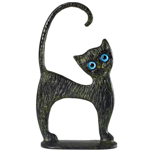 Greek Art Cat with Base