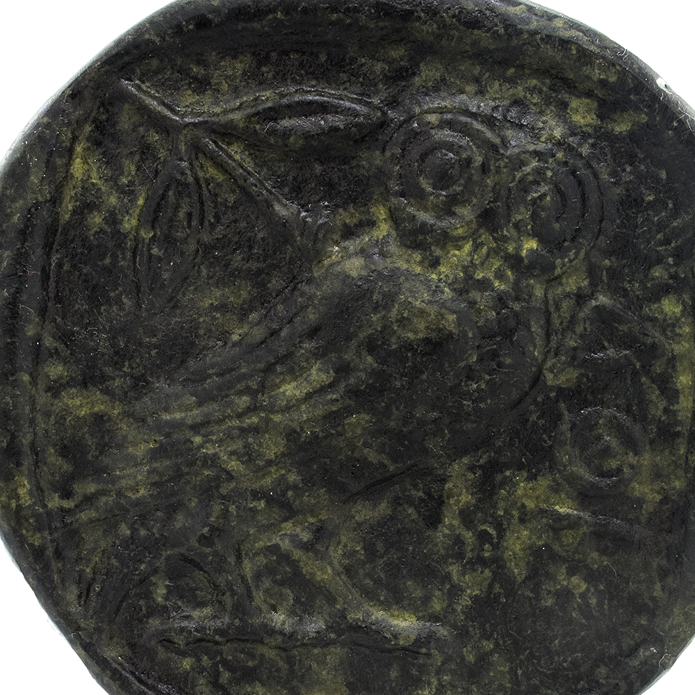 Bronze Paperweight with an Owl